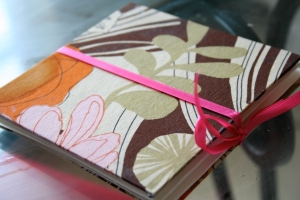 Fabric covered photo accordion book