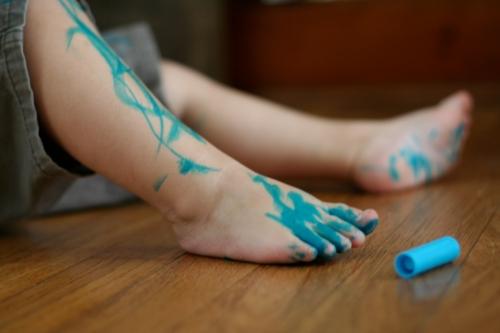 blue leg